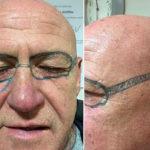 Тату очки у мужчины