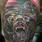 Злой медведь с оскалом
