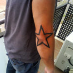 Звезда на локте, контур