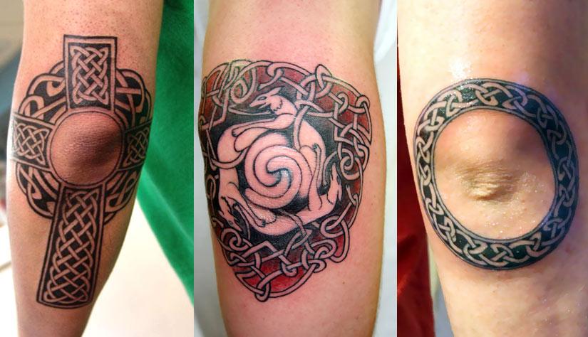 Кельтские узоры, кельтский крест, круг, и узор с животными