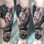 Татуировка с ангелом
