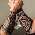 Тату в полинезийском стиле