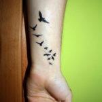 Стая летящих птиц