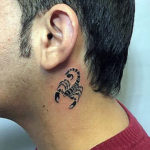 Скорпион в стиле трафарет