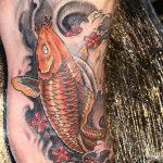 Рыба крап, мужская тату