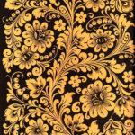 Хохлома с черным и желтым цветом