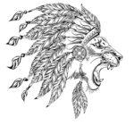 Лев с перьями