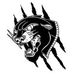 Черная голова пантеры