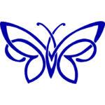Эскиз тату бабочка