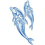 Эскиз тату дельфины