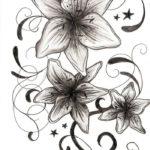 Эскиз тату цветы