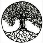 Эскиз тату дерево