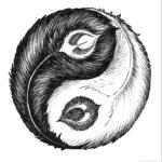 Инь-янь в виде перьев