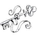 Дверной ключ с лентой