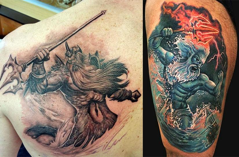 Татуировки Нептуна и Посейдона