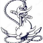 Якорь с дельфином
