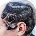 Змея с розой