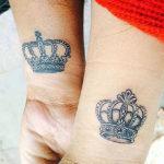Парные тату корон