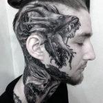 Татуировка головы дракона