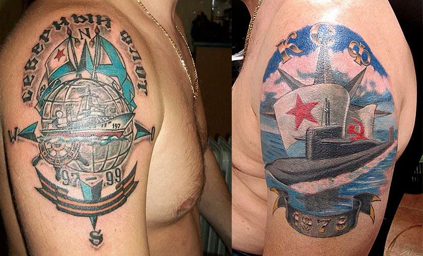 Армейские морские татуировки
