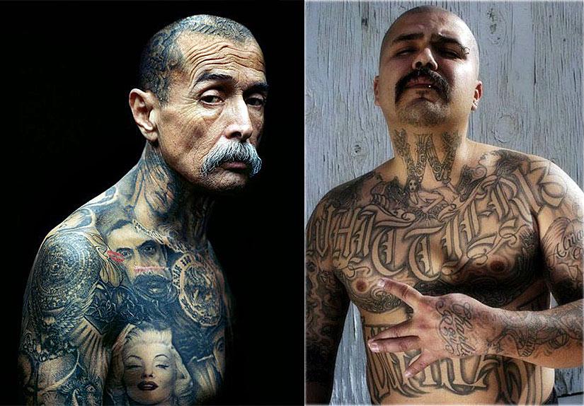 Бандитские татуировки чикано