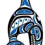 Большой синий кит, эскиз