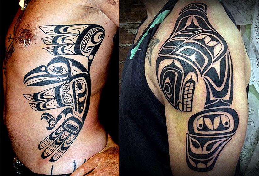 Черно-белые татуировки хайда