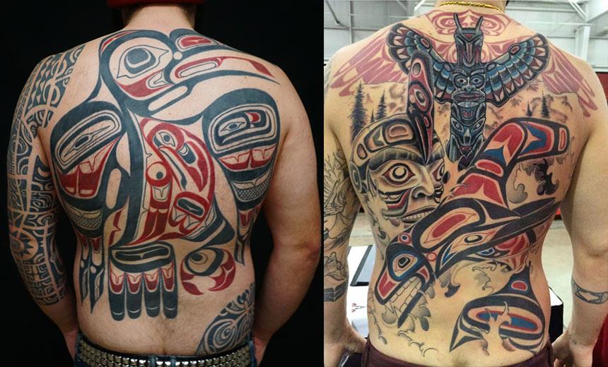 Татуировки в стиле хайда на всю спину