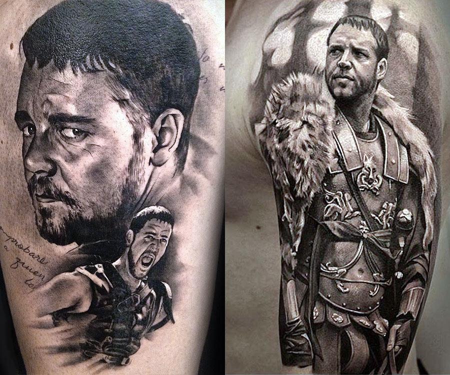 Татуировка гладиатора Спартака с Расселом Кроу