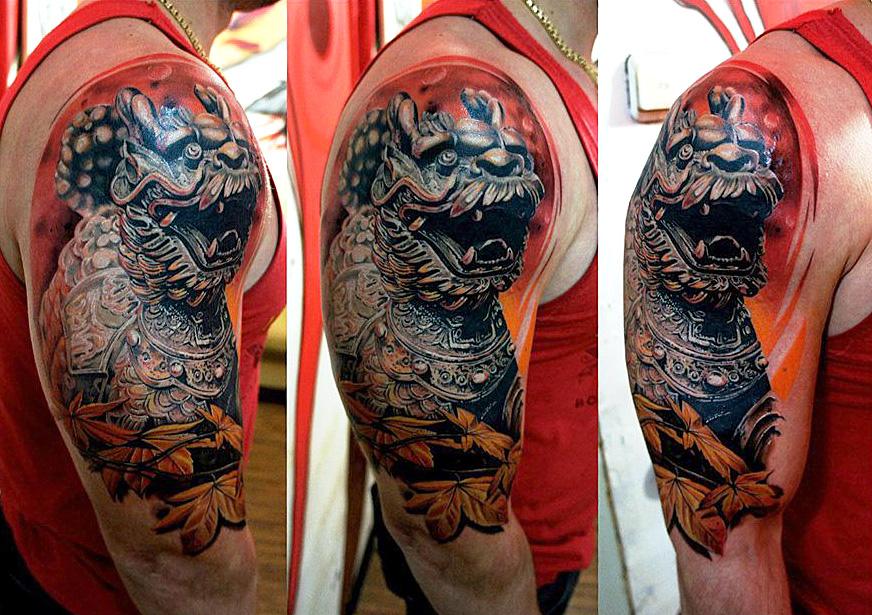 Реалистичные татуировки в японском стиле