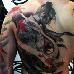 Реалистичная тату самурая