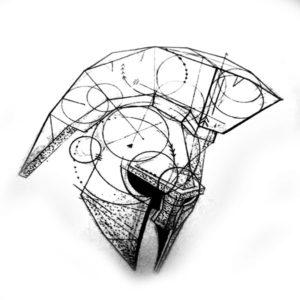 Графический эскиз шлем гладиатора