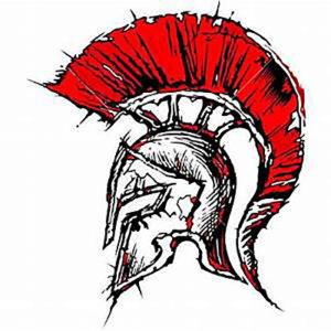 Шлем гладиатора с красным ирокезом