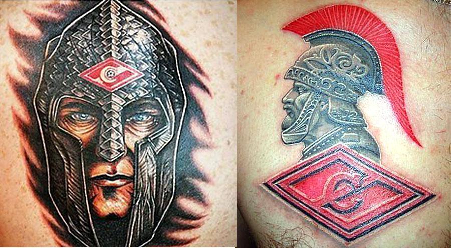 Татуировки Спартака футбольных фанатов