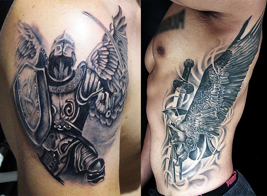 Гладиатор с крыльями ангела