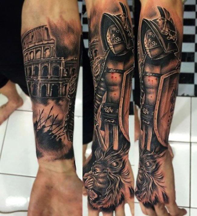 Татуировка вокруг предплечья