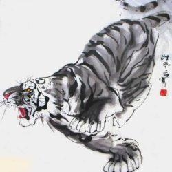 Тигр, акварель