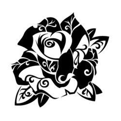 Женский эскиз тату розы