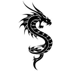 Крутой эскиз дракончика
