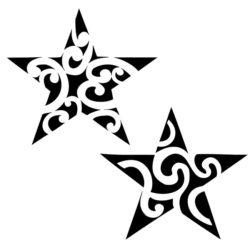 Черно белый эскиз звезд